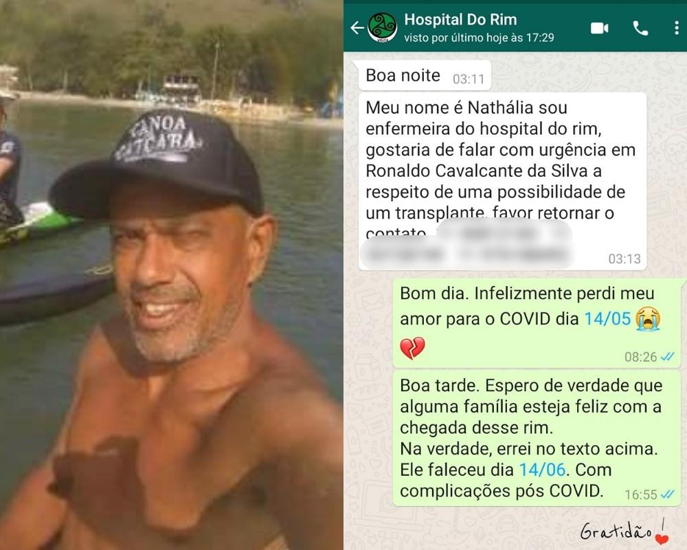 Homem consegue transplante de rim dois dias após morrer com Covid-19 no litoral de SP