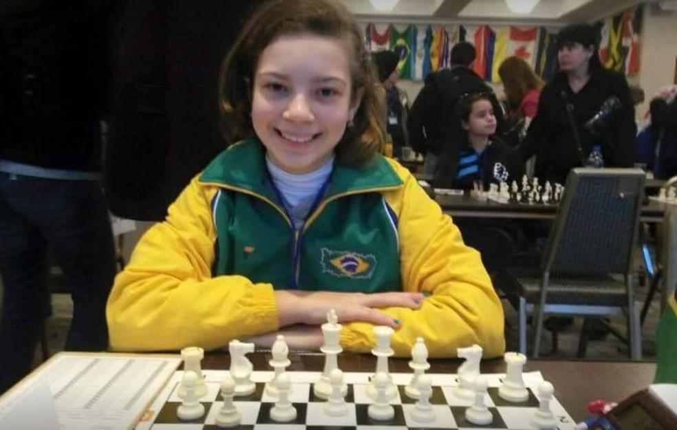 Gabriela começou a jogar aos 6 anos nas aulas de educação física (Foto: Gabriela Feller/Arquivo Pessoal)