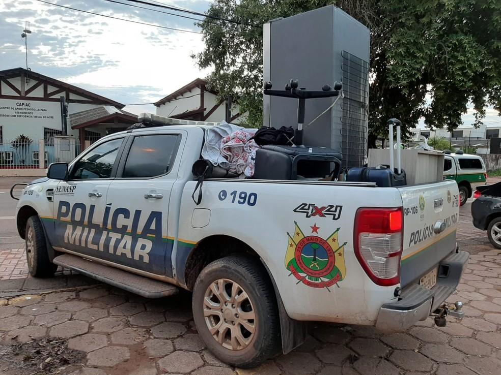 Polícia Militar do Acre conseguiu recuperar os bens da família e prendeu cinco suspeitos — Foto: Lillian Lima/Arquivo pessoal