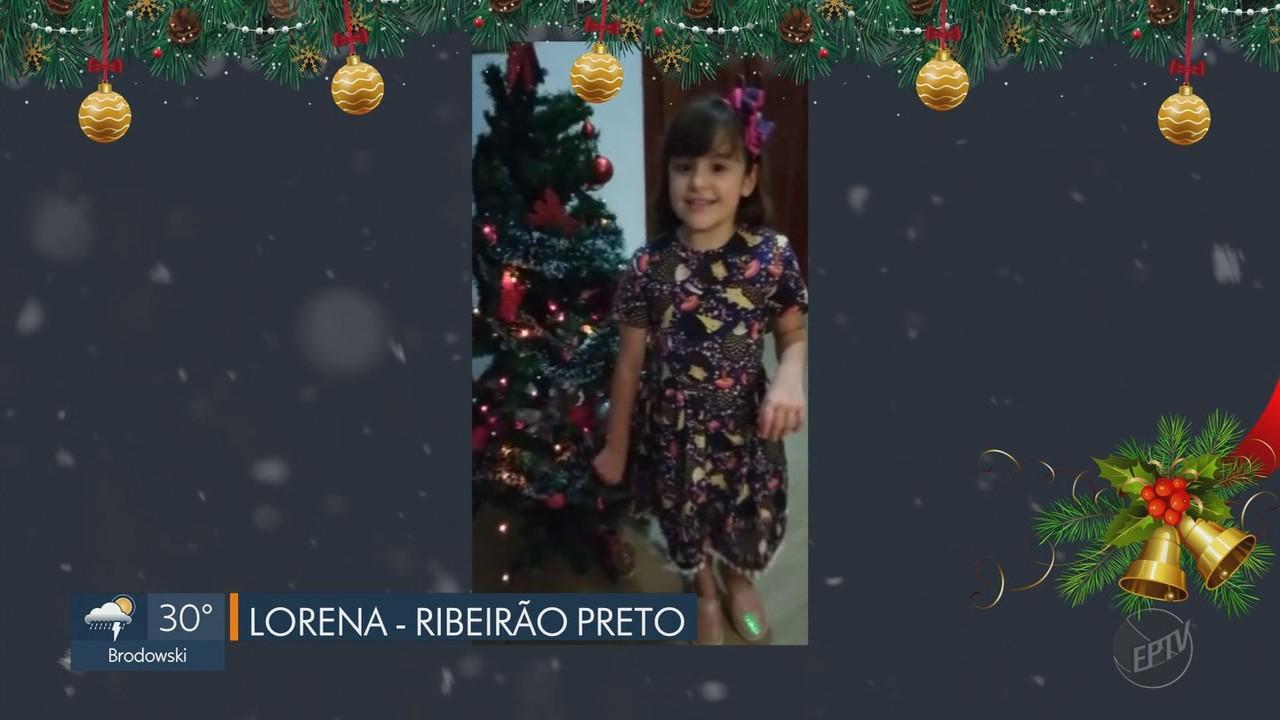 Telespectadores enviam mensagens de Natal à EPTV na região de Ribeirão Preto.