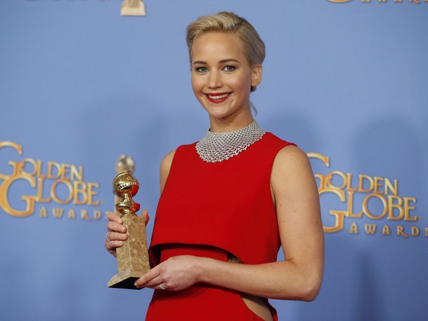 Jennifer Lawrence won the Golden Globe award for best actress in a Comedy or musical (photo: REUTERS/Lucy Nicholson)