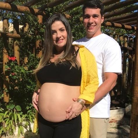 Giselle Policarpo e o marido, Rocini Tavares (Foto: Arquivo pessoal)