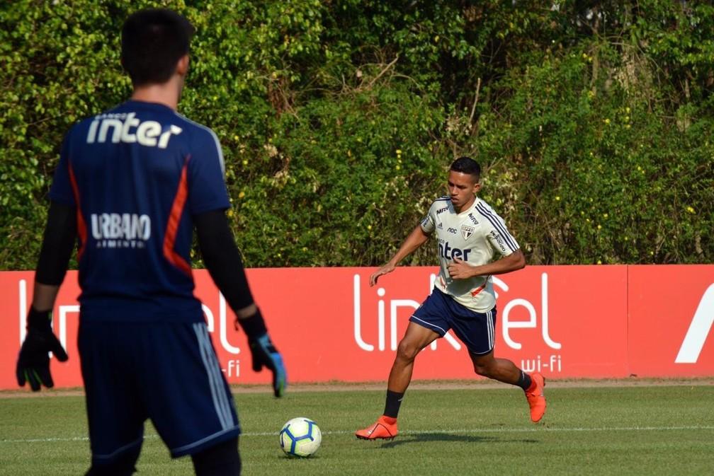 Igor Vinicius cresceu de rendimento no São Paulo — Foto: Érico Leonan/saopaulofc.net