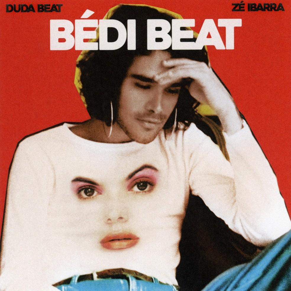 Capa do single 'Débi beat', de Duda Beat e Zé Ibarra — Foto: Arte com fotos de Valentina Denuzzo (Zé IBarra) e Ivan Erick (Duda Beat)