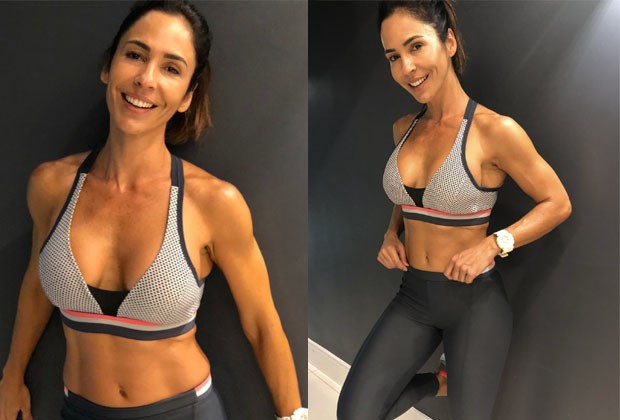 A rotina de exercícios de Juliana Veiga (Foto: Reprodução / Instagram)