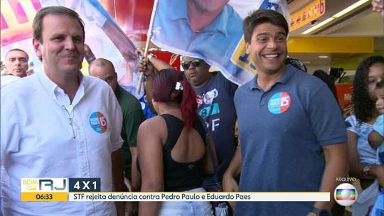Primeira turma do STF rejeita denúncia da PGR contra Pedro Paulo e Eduardo Paes