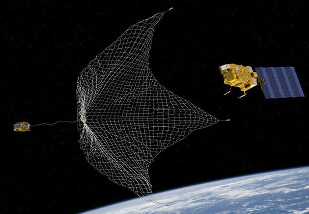 RemoveDEBRIS, satélite experimental para recolher lixo espacial. Seu sucesso poderá criar o negócio da limpeza do espaço (Foto: Divulgação)