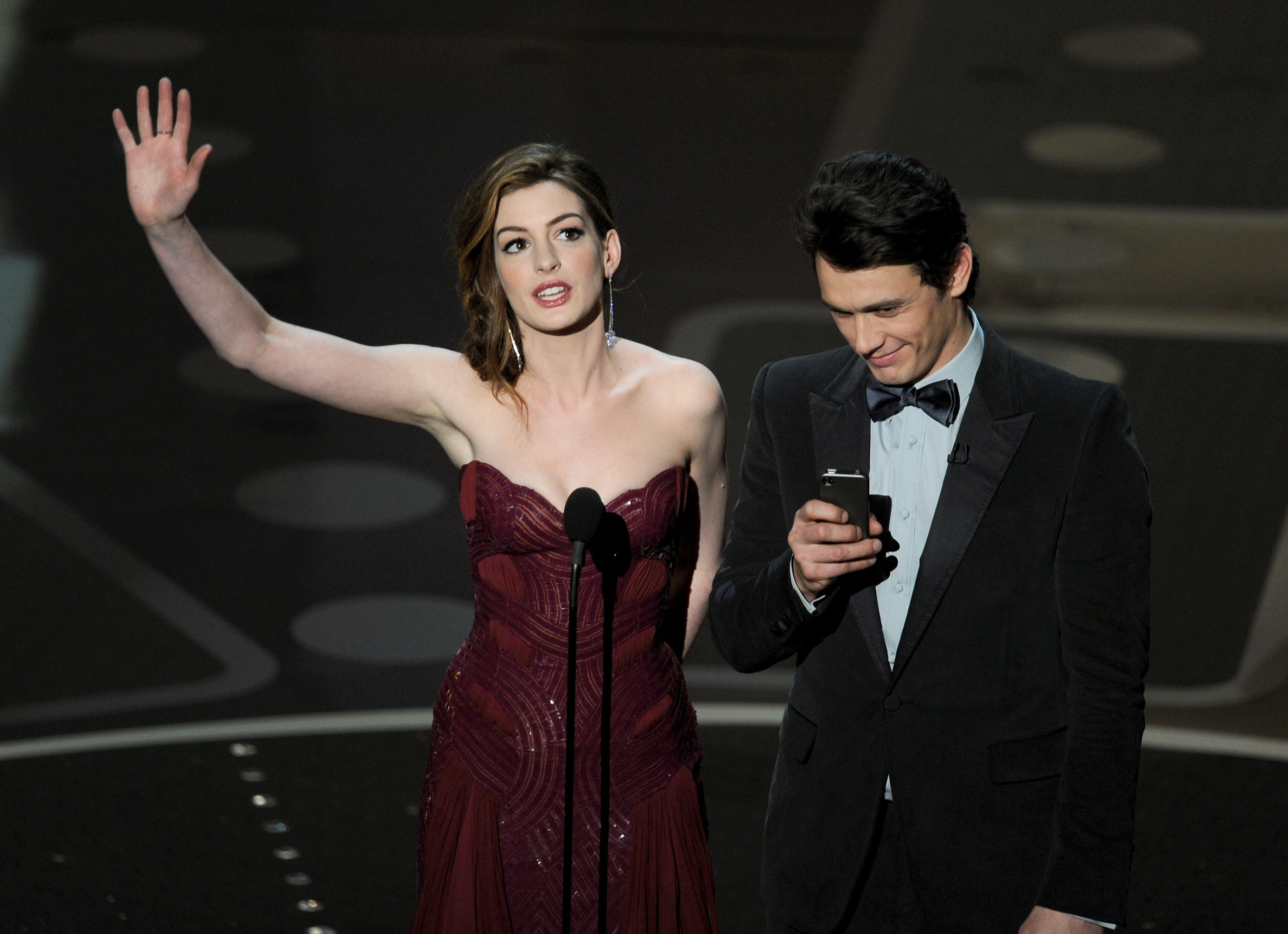 James Franco e Anne Hathaway (Foto: Getty Images)