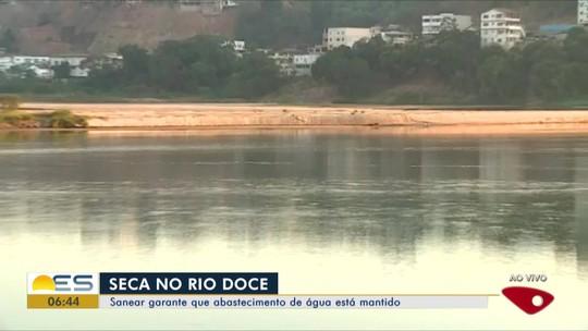 Seca forma bancos de areia no Rio Doce e muda a paisagem em Colatina, ES