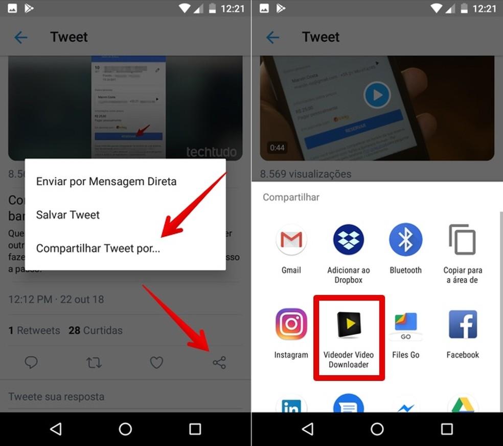 Como baixar e salvar vídeo do Twitter no celular Android e iPhone | Redes  sociais | TechTudo