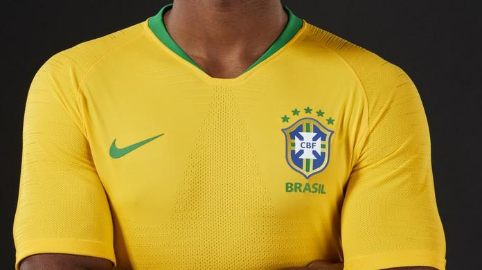 Ouro Samba  CBF lança uniforme com amarelo vibrante para a Copa da Rússia  7fbd339272fb6