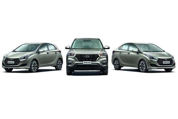Hyundai lança versão 1 Million do SUV Creta e sedã e hatch do HB20 (Foto: Divulgação)