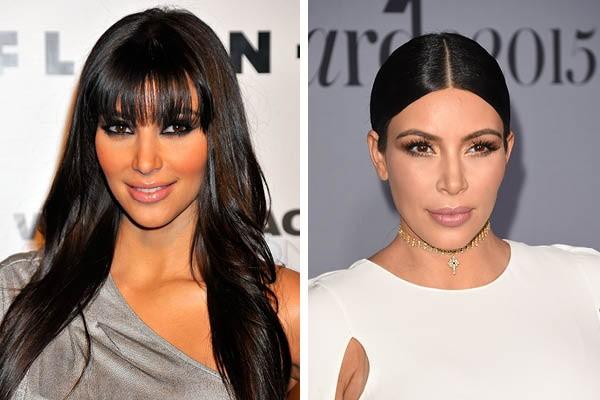Kim Kardashian em 2008 e agora (Foto: Getty Images)