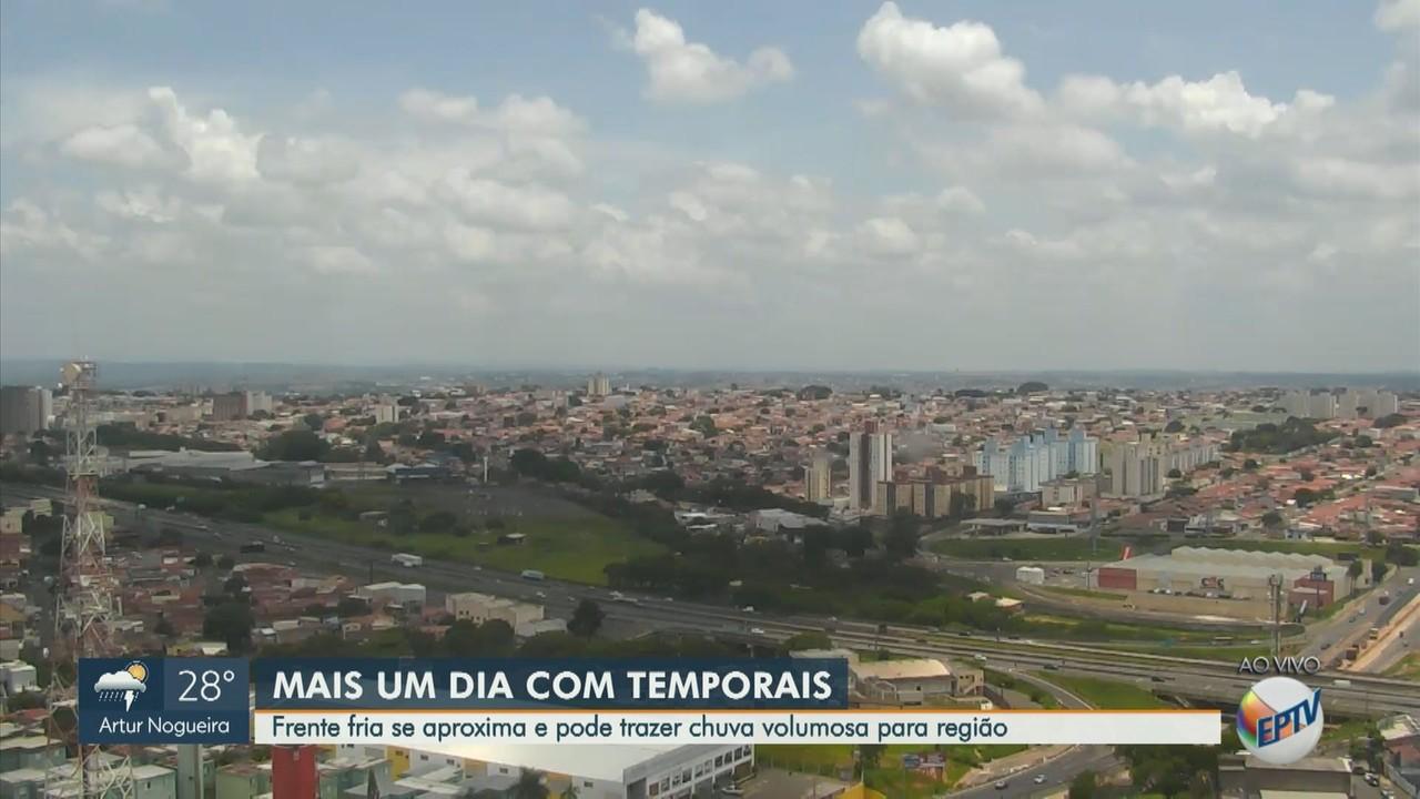 Previsão do Tempo: região de Campinas tem mais calor e chuva