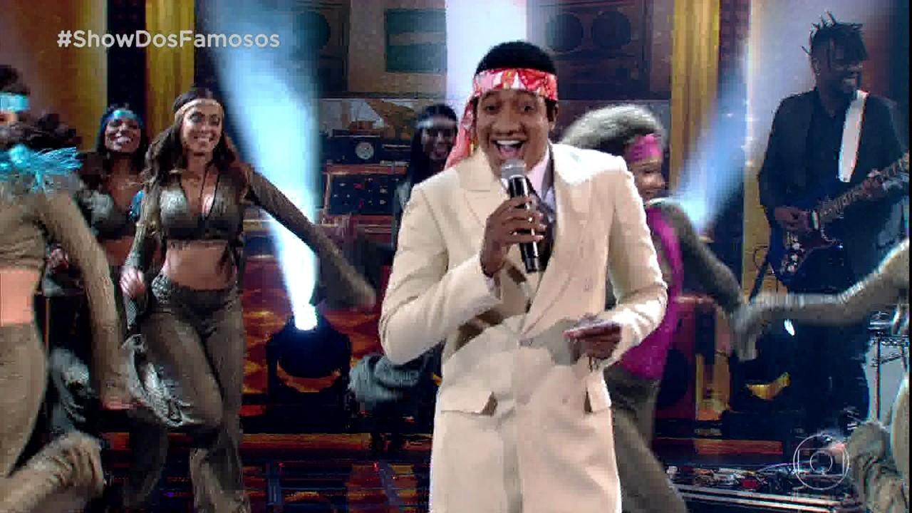 Mumuzinho intepreta Wilson Simonal no 'Show dos Famosos'
