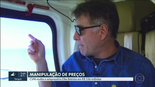 CVM multa Eike Batista em R$ 536 milhões por manipulação de preços