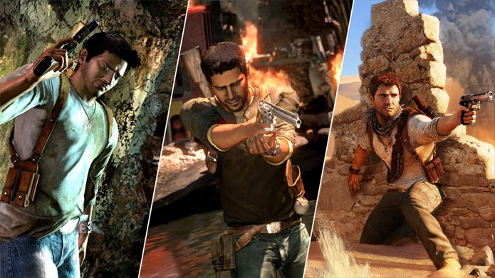 Uncharted: The Nathan Drake Collection remasterizou a série do PS3 para PlayStation 4 (Foto: Reprodução/YouTube)