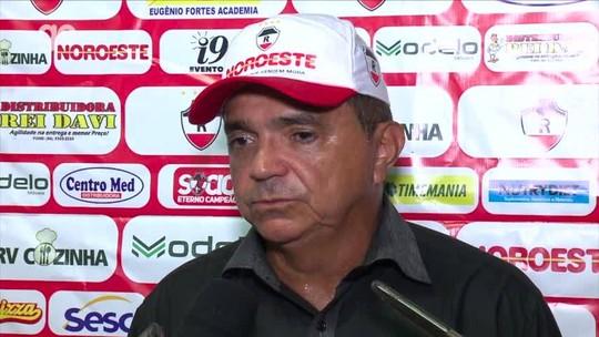 """Flávio reconhece atuação do River-PI abaixo do esperado e dá bronca: """"Criamos poucas vezes"""""""