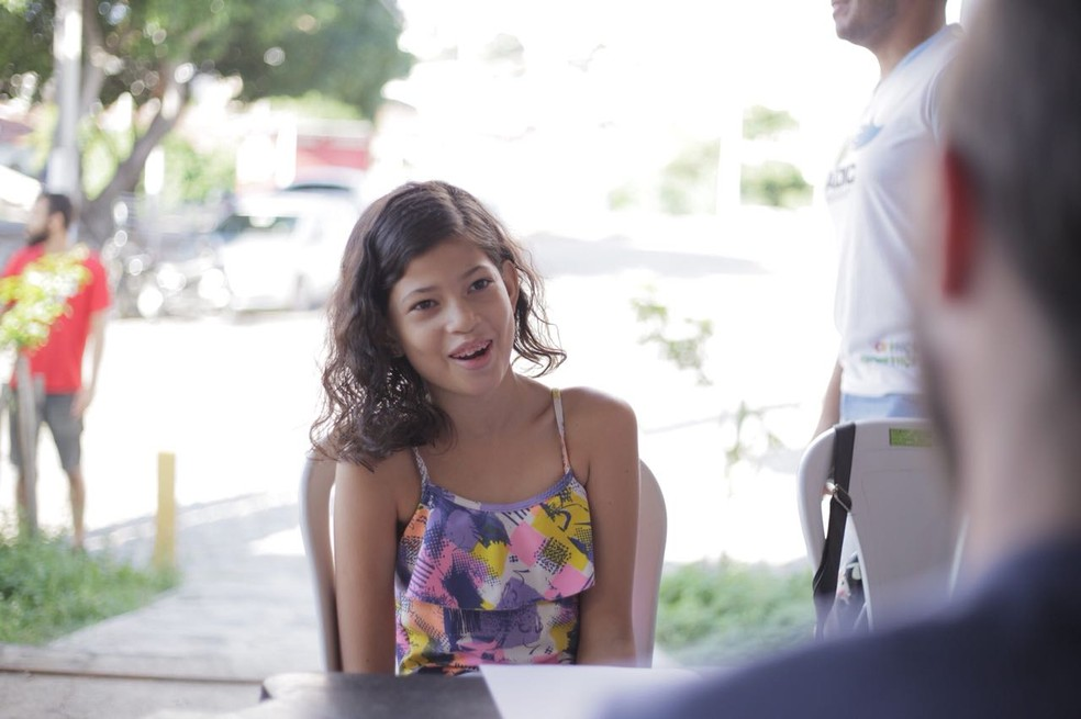Alice Antônia quer ser youtuber para mostrar a realidade da comunidade onde mora (Foto: Rudá de Melo )