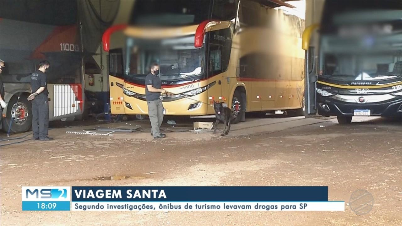 Segundo investigações, ônibus de turismo levavam drogas para SP