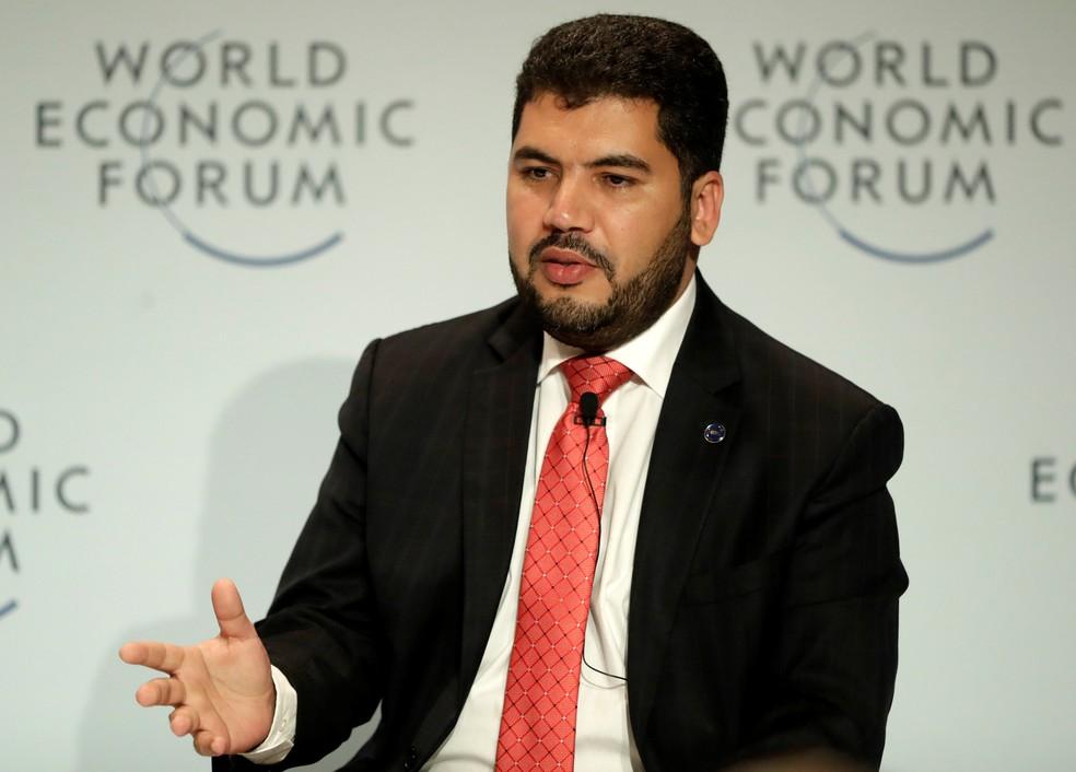 Marcos Jorge de Lima, ministro da Indústria, Comércio Exterior e Serviços, durante Fórum Econômico Mundial, em São Paulo (Foto: Leonardo Benassatto/Reuters)