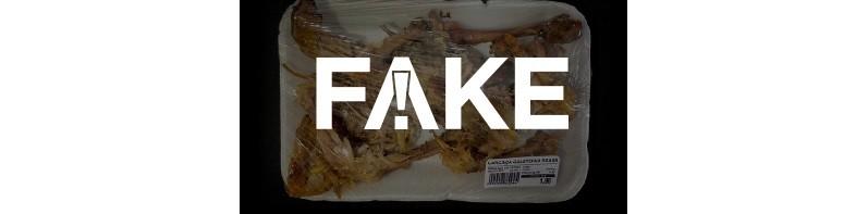 É #FAKE que foto mostre carcaça de galeto assado à venda por R$ 1,90 em supermercado