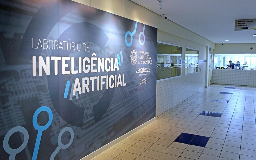 Laboratório de Inteligência Artificial, o primeiro a ser inaugurado na região — Foto: Imprensa UniSantos
