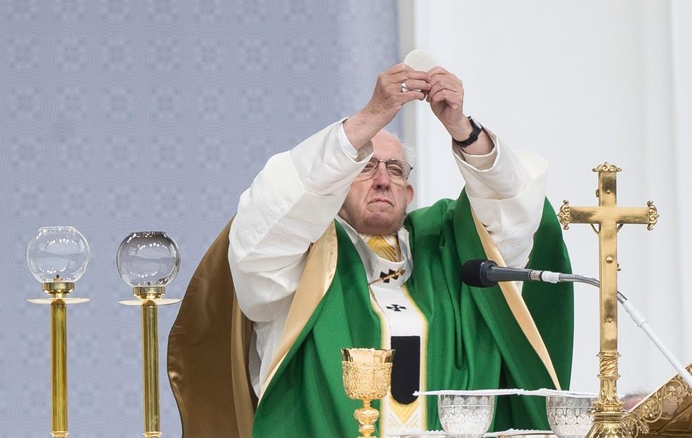 Papa Francisco  — Foto: Mindaugas Kulbis/AP