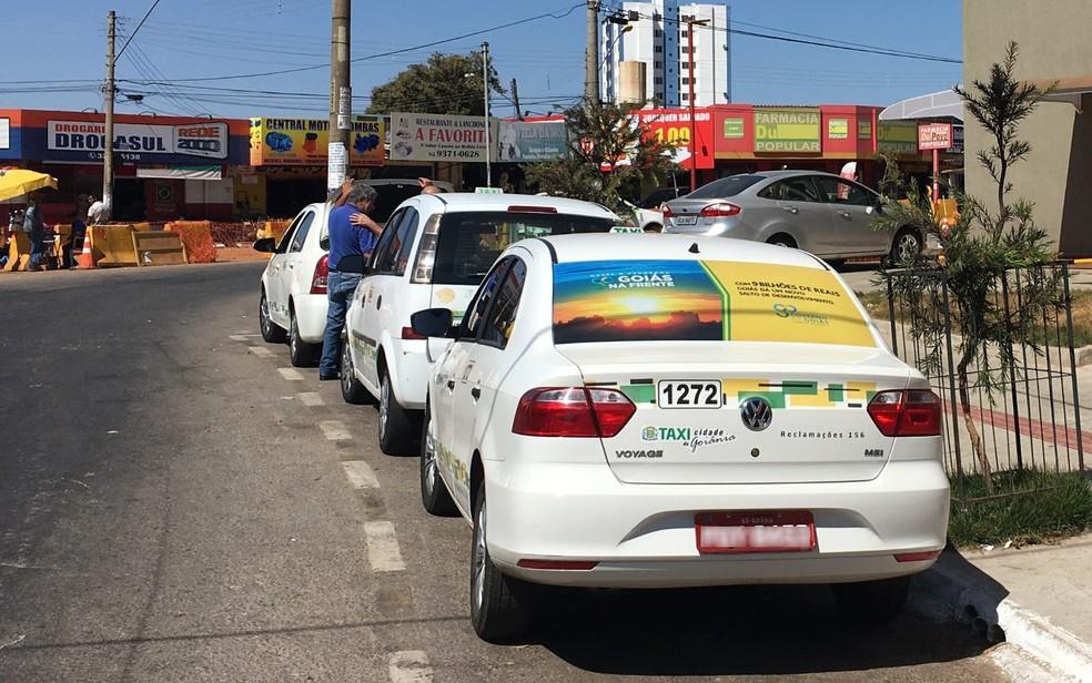 App exclusivo para taxistas visa dar mais competitividade à categoria — Foto: Paula Resende/ G1
