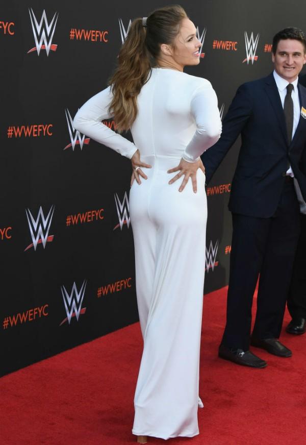 Ronda Rousey em evento do WWE (Foto: Getty Images)