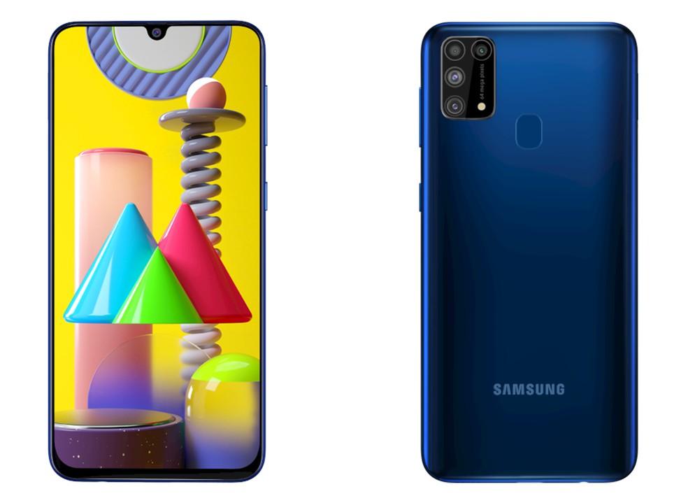 Galaxy M31 tem bateria gigante de 6.000 mAh e câmera quádrupla de 64 MP — Foto: Divulgação/Samsung