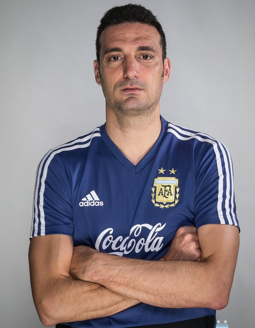 Lionel Scaloni, técnico da seleção argentina na Copa América â?? Foto: Divulgação/AFA