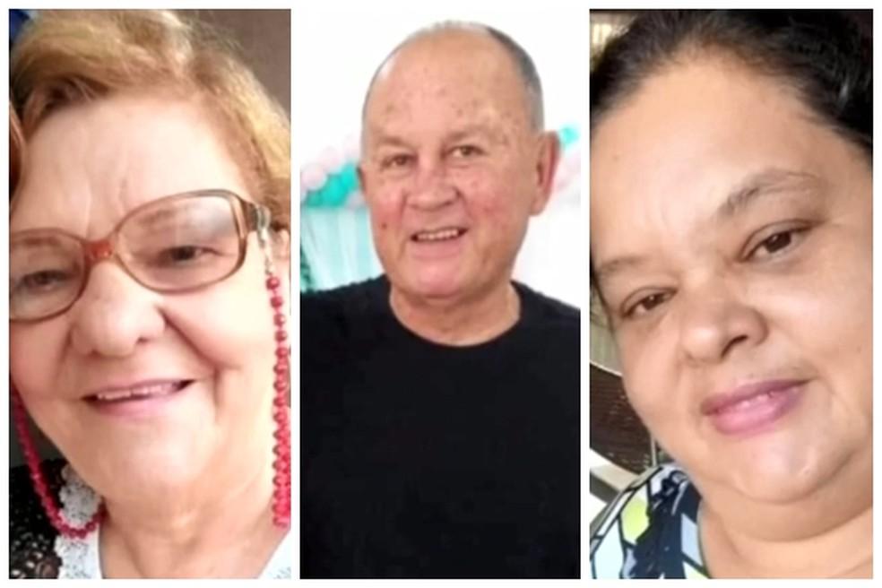 Tereza, José e Márcia morreram à espera de leito em Urânia  — Foto: Reprodução/TV TEM