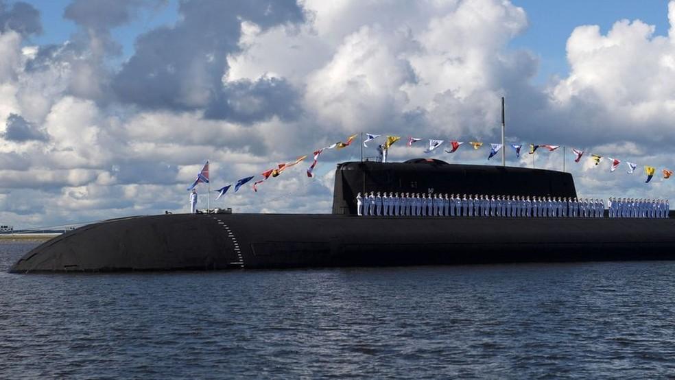 Pelo menos mais oito submarinos nucleares serão adicionados à Frota do Norte, enquanto os restos da frota nuclear soviética estão no fundo do mar — Foto: Getty Images via BBC