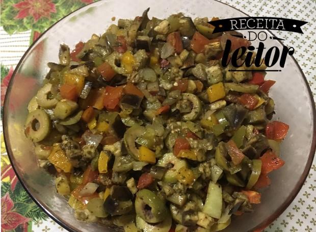 Salada de berinjela da leitora Solange (Foto: Divulgação)