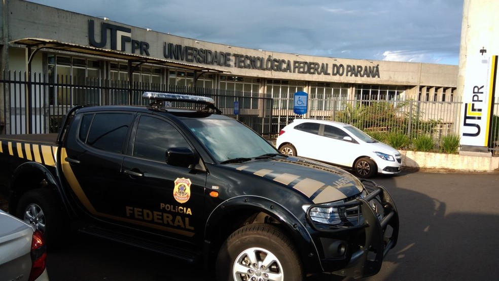 Operação investiga desvio de recursos no campus da UTFPR em Cornélio Procópio (Foto: Victor Bittencourt/RPC)