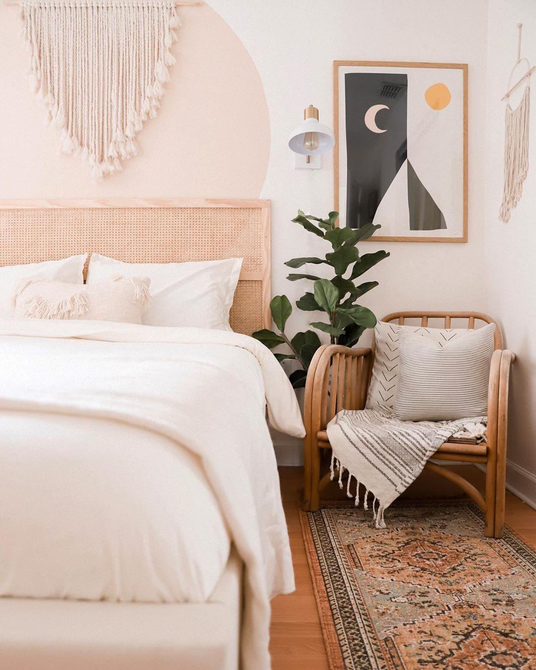 Décor do dia: quarto com estilo boho chic, palhinha e tons terrosos (Foto: Arquivo Pessoal)