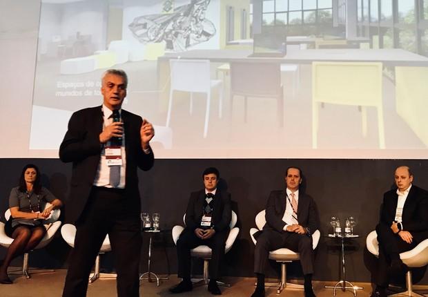 Wagner Aparecido Mardegan, Gerente Geral do Banco do Brasil, em debate sobre o futuro das agências bancárias no Ciab 2018 (Foto: Marcelo Moura)
