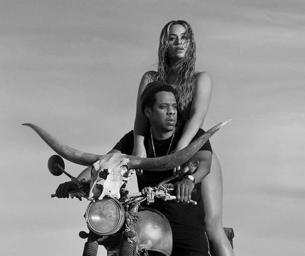 Beyoncé e Jay-Z no pôster da turnê OTR II (Foto: Divulgação)