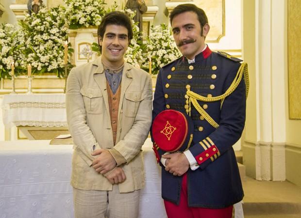 Juliano Laham e Pedro Henrique Muller interpretam Luccino e Otávio; personagens viverão romance em Orgulho e Paixão (Foto: Cesar Alves/TV Globo)