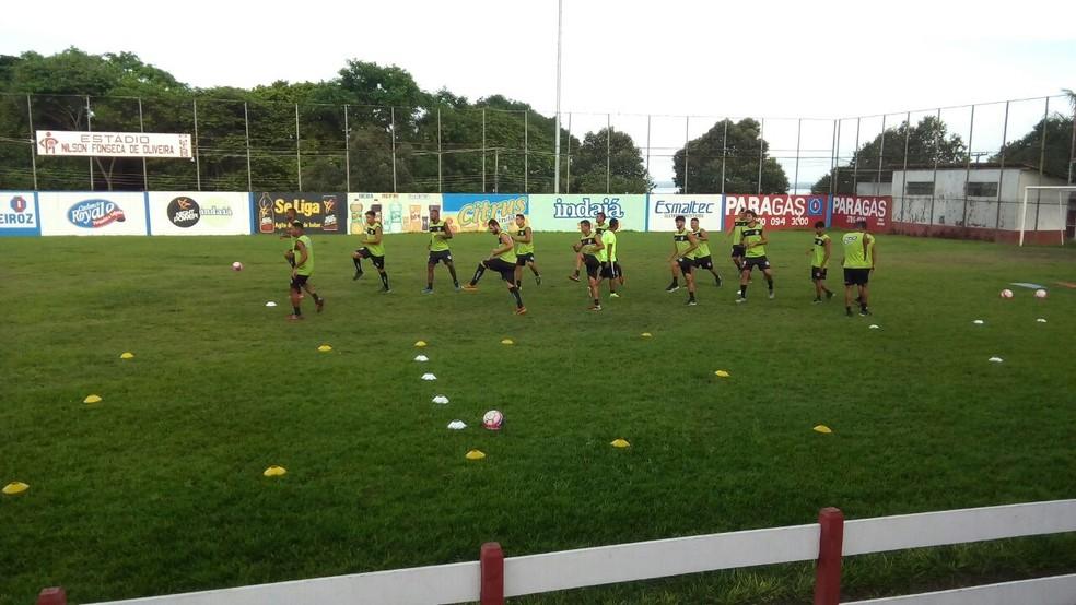 Equipe santarena fez treino em Tucuruí (Foto: Ascom/São Raimundo)