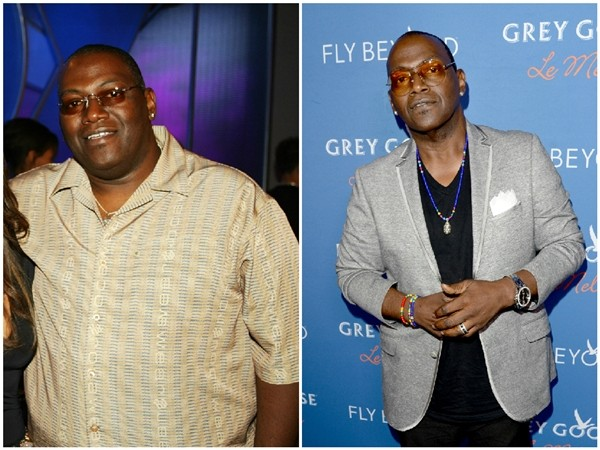 Randy Jackson em 2002 e 2014 (Foto: Getty Images)