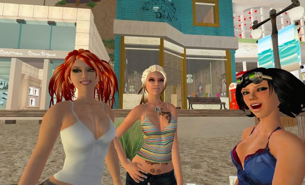 Second Life é um mundo virtual completo e com moeda própria — Foto: Reprodução/Felipe Vinha