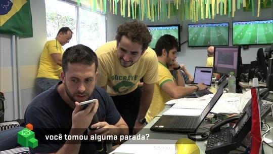 Tatá Werneck leva trote durante gol do Brasil contra a Suíça e se irrita; veja