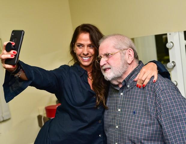 Adriane Galisteu e Jô Soares (Foto: Leo Franco/AgNews )