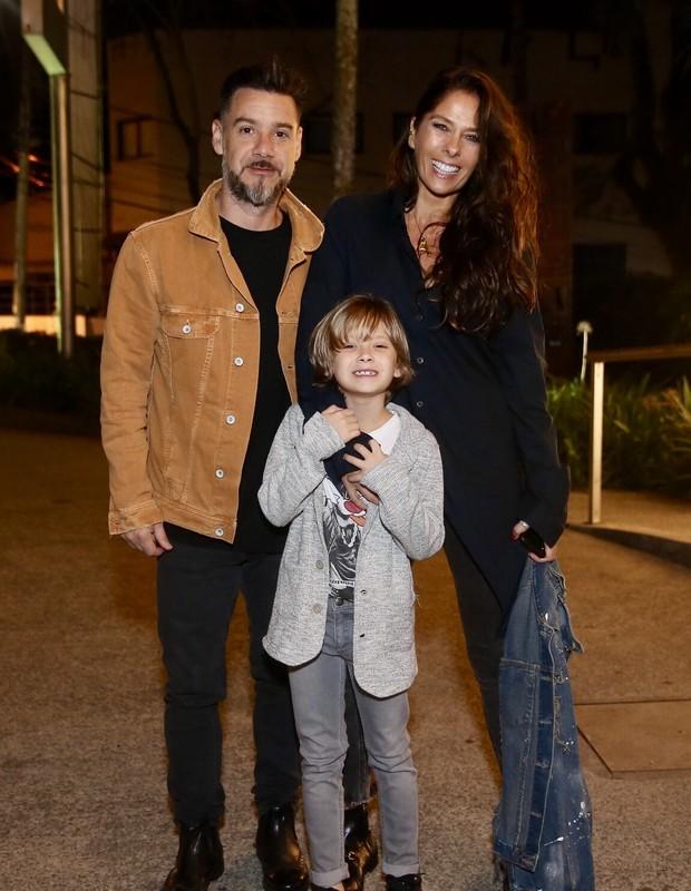 Alexandre Iodice e Adriane Galisteu com o filho, Vittorio (Foto: Manuela Scarpa/Brazil News)