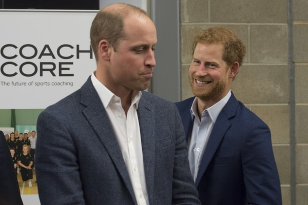 O Príncipe William com o irmão, Harry (Foto: Getty Images)