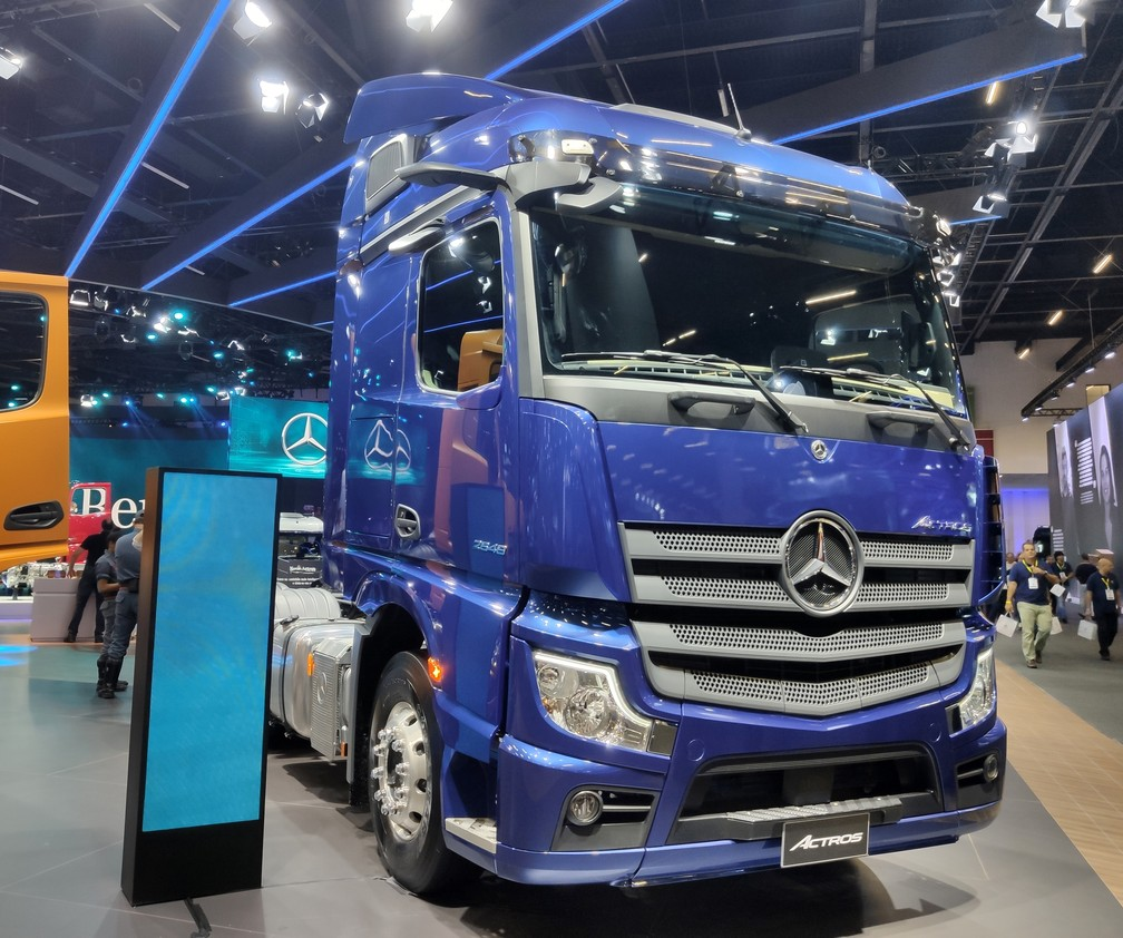 Mercedes-Benz Actros, Brazil's first vehicle without rear-view mirrors - Photo: André Paixão / G1