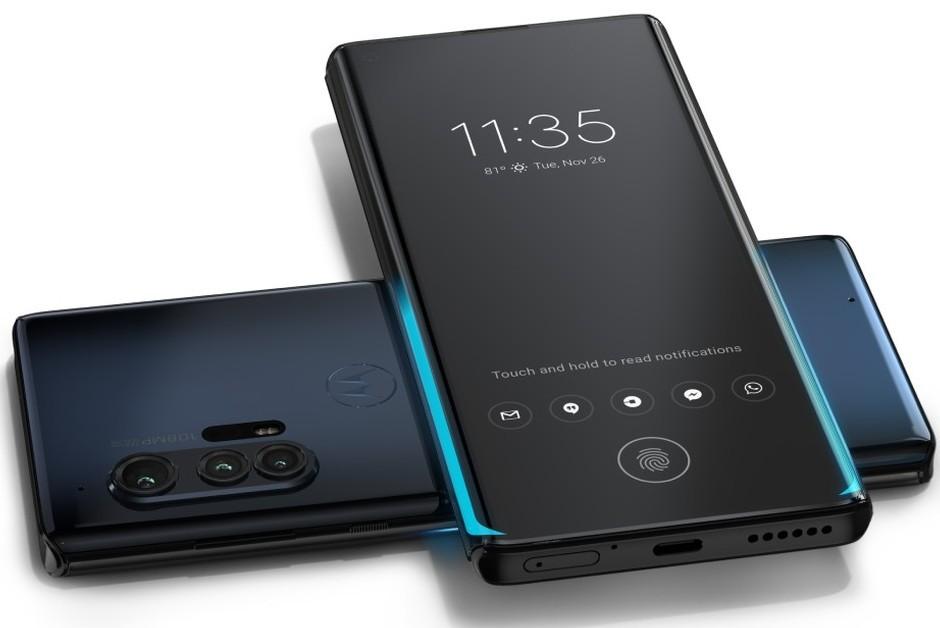 Motorola Edge Plus, que conta com tecnologia 5G no Brasil (Foto: Divulgação)