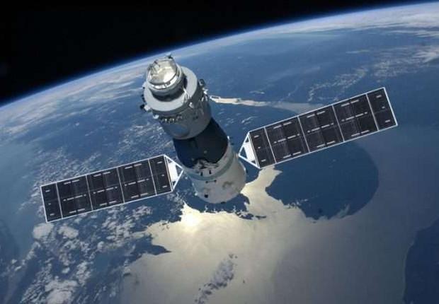 Ilustração da Tiangong-1 (Foto: China Manned Space Agency/Divulgação)